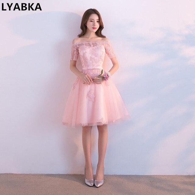short light pink prom dresses