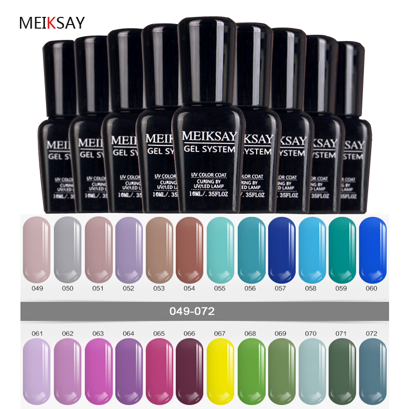 Clear Gel Nail Polish 10ml Soak Off Uv Led Fashin Color Nice Art Gelpolish Manicure At Home Nails In From Beauty Health