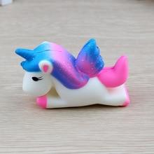 Καυτή πώληση Kawaii Lovely πολύχρωμο Unicorn Squishy αργά αυξανόμενα Squeeze παιχνίδια Cartoon Αστεία αντι-στρες παιδιά ενήλικες Stress Relief Toys