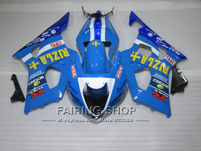 New hot bodywork fairing kit for Suzuki GSXR1000 03 04 K3 K4 yellow sticker blue injection fairings set GSXR 1000 2003 2004 WT40 100% fit for suzuki injection molding gsxr1000 fairing kit k3 k4 2003 2004 brown black fairings set gsxr 1000 03 04 ap34