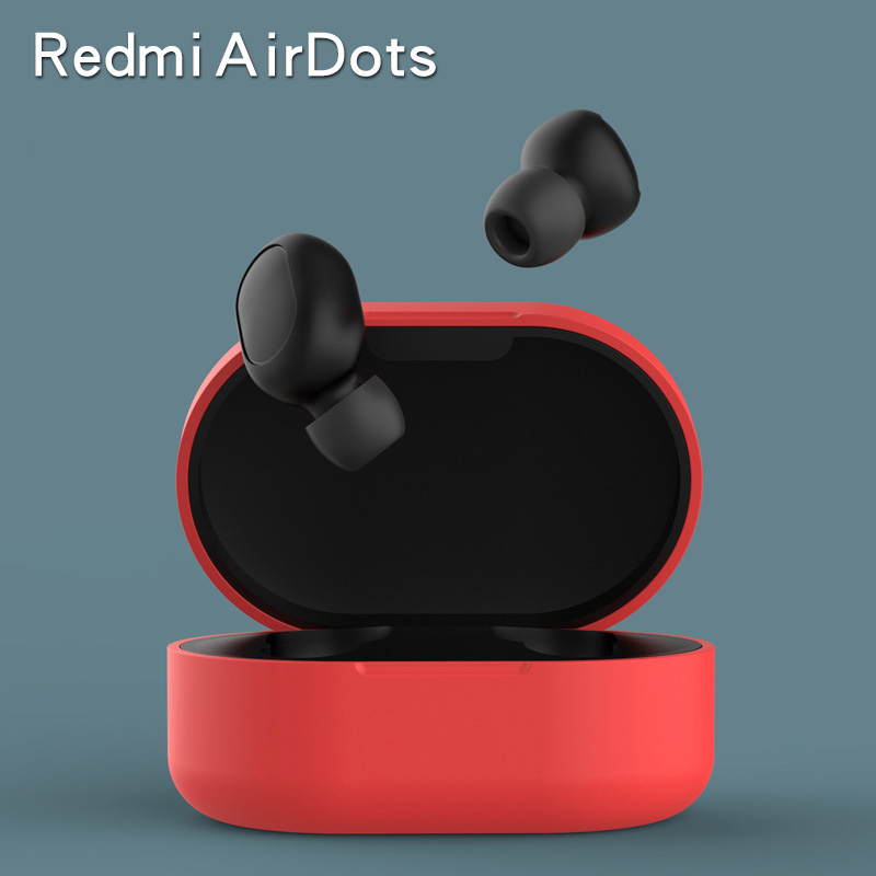 2019 Latest Soft Silicone Protective Cover Case For Xiaomi Redmi Airdots TWS Bluetooth Earphone Headset Air Pods Ear Pieces Box
