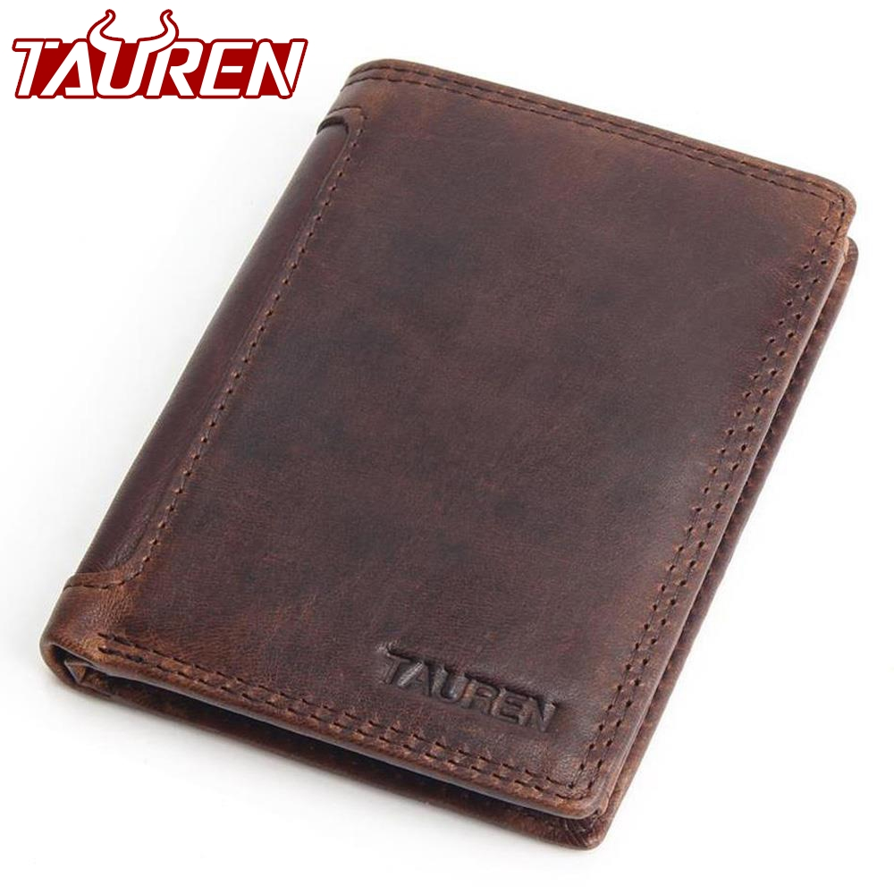 Vintage Designer 100% Genuine Carteiras Masculinas Cowhide Leather Men Short Wallet Purse Card Holder Coin Pocket Male Wallets vintage genuine leather men wallets with coin pocket zipper slot card holder designer cowhide short man purses carteira 2017