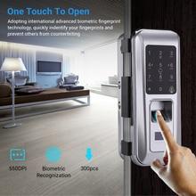 цена на Biometric Fingerprint Door Lock, Security Intelligent Electronic Lock,Password RFID Unlock,Door Lock Electronic Hotels Locks Kit