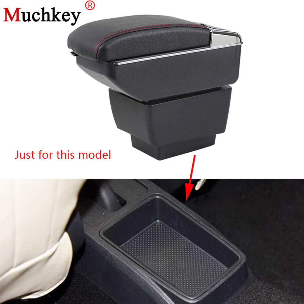 Armrest box For Skoda Fabia 2015-2017 Central Console Arm Store content box cup holder ashtray With Rise and Down Function Auto auto ashtray cup shaped shiny finish with hook