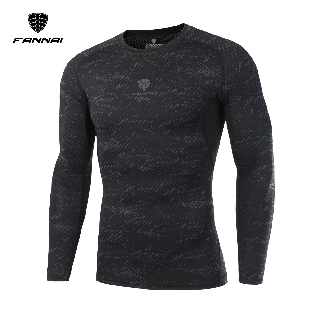 FANNAI Fitness Men Long Sleeve T Shirt Crossfit Tops