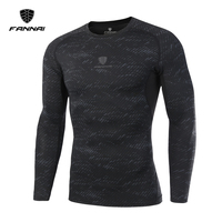 LINGSAI 2017 New Fitness Compression Shirt Men Superman Bodybuilding Long Sleeve T Shirt Crossfit Tops Shirts