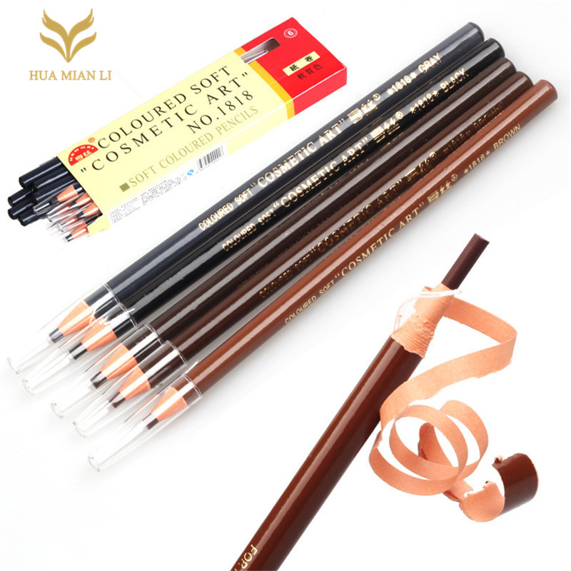 1PC Eyebrow Microblading Pencil Permanent Design de Sobrancelha Makeup Eye Brow Positioning Lip Pen Waterproof  lapiz cejas