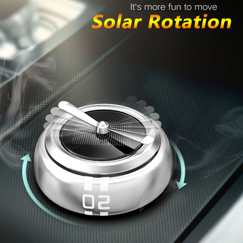 Solar Rotated Car Air Freshener Perfume Aroma Diffuser Automobiles Interior Fragrance Smell Air Purifier Ornaments Accessories