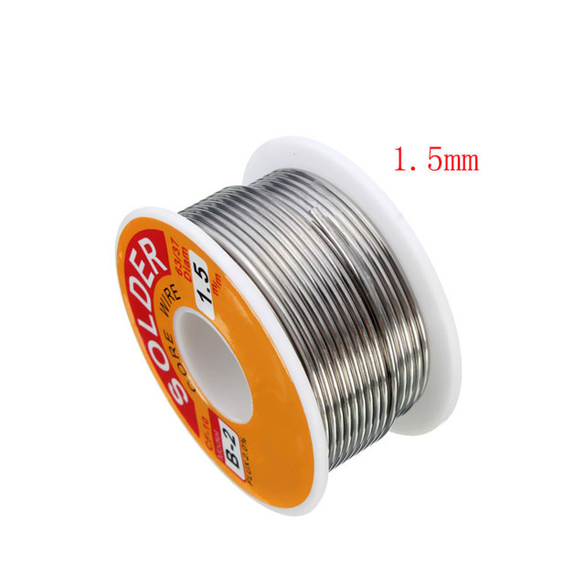 63/37 Rosin Core Solder Wire Flux 2% Tin Lead Solder Iron Welding Wires Reel 0.5mm-2.0mm 100g Flux Reel Welding Line 4