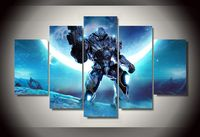 2016 New Arrival Paintings Cuadros Decoracion Framed Steel Warrior Picture Painting Wall Art Room Decor Print