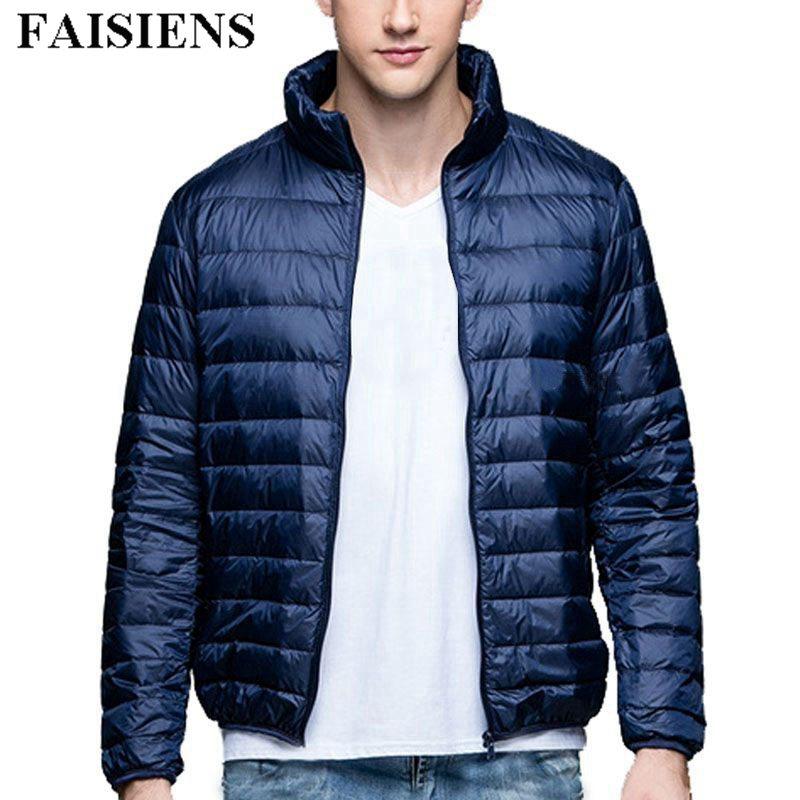 FAISIENS Large Size Winter Men Loose Jackets Down Parkas Big Men 7XL 8XL 9XL Jackets Light Thin Outwear Man Blue Men Warm Coat