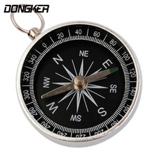 DONGKER 5 PCS/Pack Hunting Mini Portable Pocket Compass Luminous Outdoor Travel Climbing Keychain Ring Safety Survival Compass