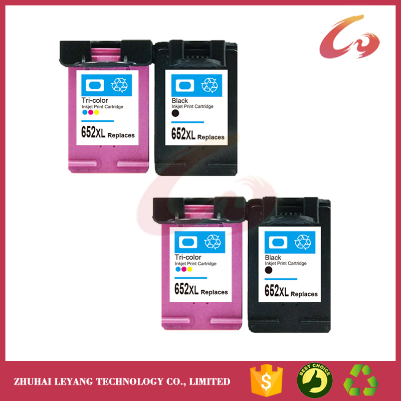 No-name Remanufactured Ink Cartridges Replacement for HP 652 XL HP652 Deskjet 1115 1118 2135 2136 2138 3635 3636 3835 4535 4536 4538 4675 4676 4678 Inkjet Printer 1 Black + 1 Tri-Color