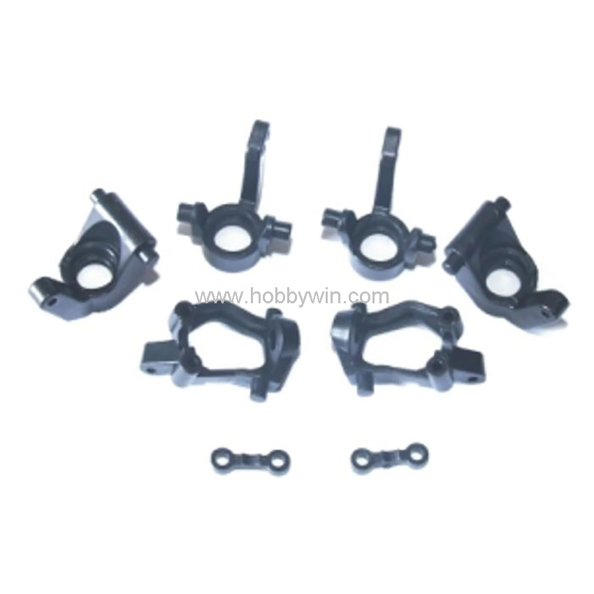 HBX Part 24018 Front Rear Hub Carriers Front Steering Hubs Fasteners For 1/24 Scale RC Model Buggy Car Off-Road Truck