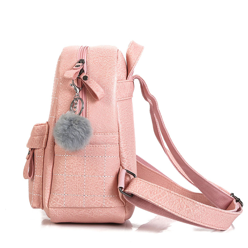 2018 New Women Backpack School Bag Fashion PU Leather Cute Small Backpack  High Quality Female Backpacks For Adolescent Girls-in Backpacks from  Luggage ... 6cabd7b662681