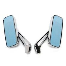 Triclicks rectangular Rear View Mirrors Universal CNC Side Mirror 3 Colors Aluminium RearView For Motorcycle Honda Yamaha 8/10mm