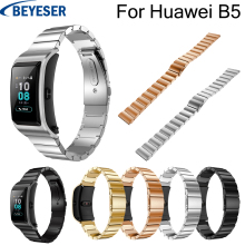 Watchbands for Huawei B5 Stainless steel band luxury wrist belt for Huawei B5 watch 18 mm classic sport replacement metal strap чехлы для автокресел fashion sport 2013 b5