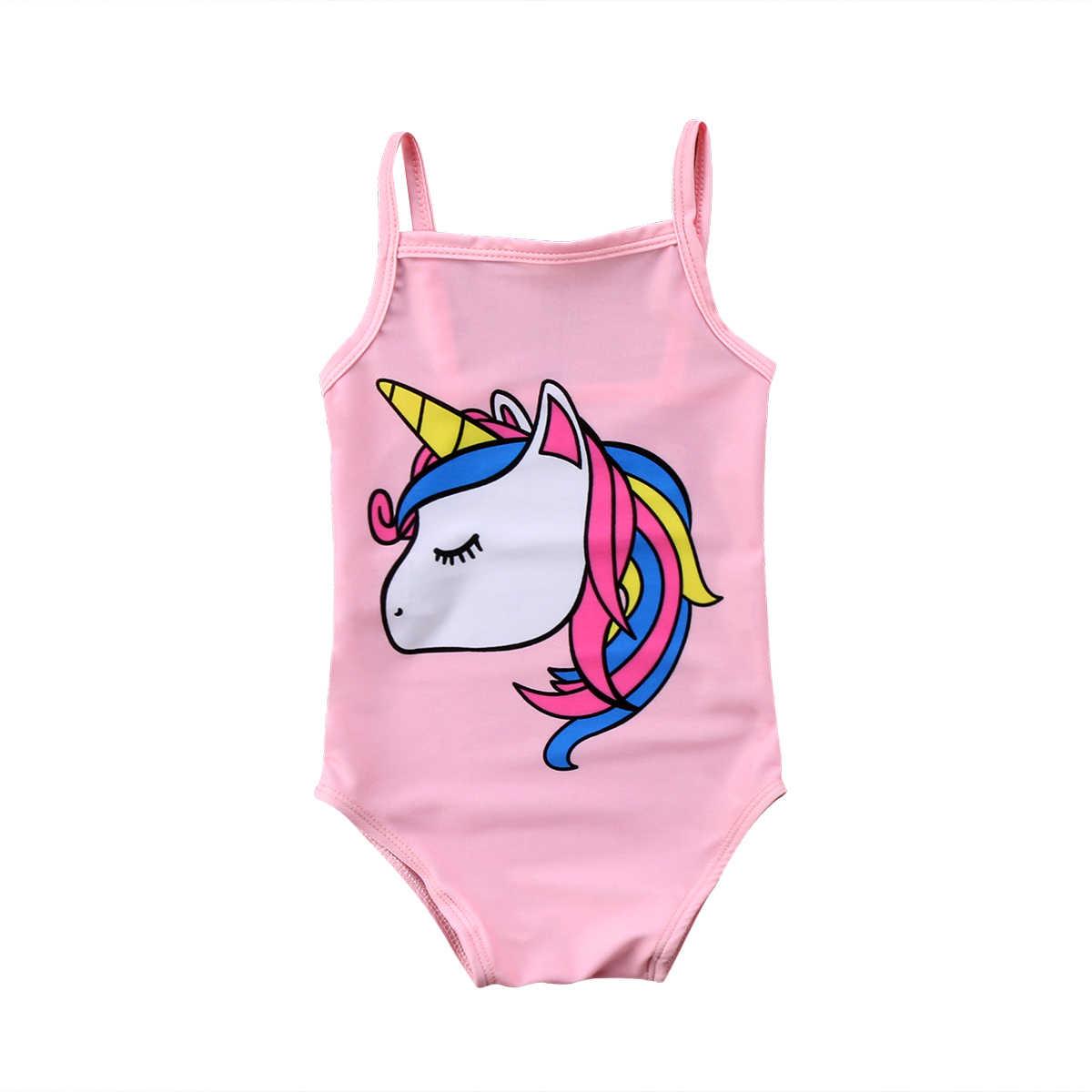 c28a006f6 ... 2019 Brand New Newborn Toddler Infant Kids Baby Girl Unicorn Swimwear  One-piece Swimsuit Bathing ...