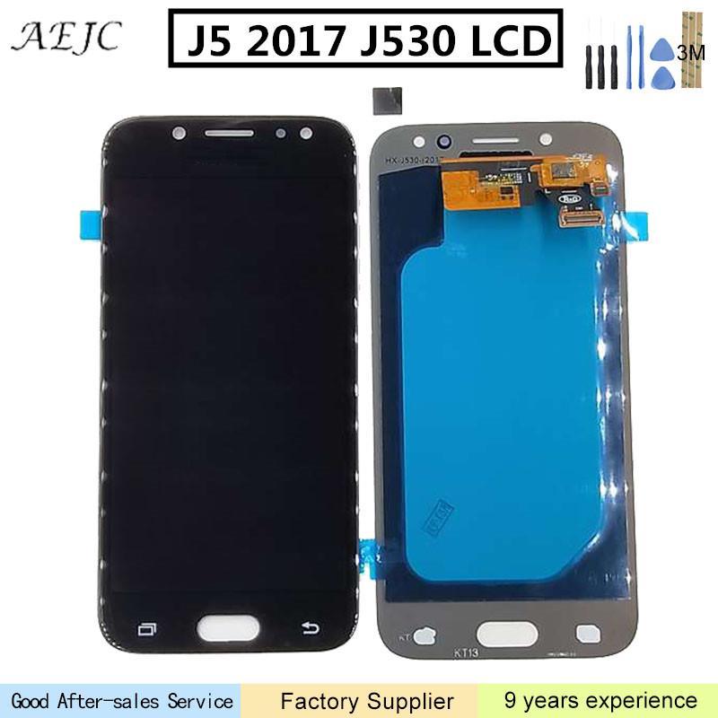 Changement OLED LCD Pour Samsung J5 2017 J530 J530F J530FN SM-J530F Écran LCD avec Écran Tactile Digitizer Assemblée 5.2 pouce