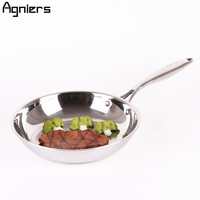 Agniers 26cm Frying Pan Multi Ply Clad Stainless Steel 10 Cooking Pan Edge Skillets Chef S