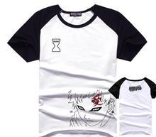 Naruto T-Shirt Gaara Cotton Men T Shirts Anime Short Sleeve Tops Tee