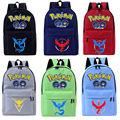 Pokemon IR Mochila Para os Meninos adolescentes Meninas mochilas Escolares 2016 crianças Mochila sacos de Viagem Da Lona Mochila