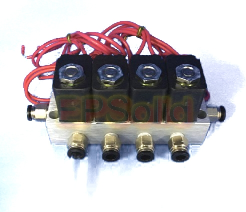 Free shipping 4pcs set Manifold Valve Connect Pipe O D 4mm 6mm 8mm 10mm 12mm Pneumatic
