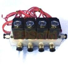 4 шт./компл. коллектор клапан Соединительная труба O.D 4 мм 6 мм 8 мм 10 мм 12 мм пневматический прямой акт электромагнитный клапан газа 2V025-06