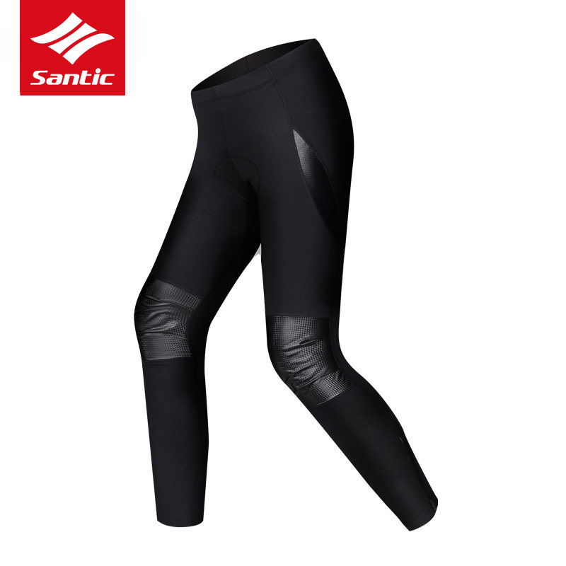 Santic Winter Cycling Pants Thermal Fleece Downhill DH Mountain Road Bike Pants 4D Padded Bicycle Long Trousers Cycle Clothing santic men winter cycling pants thermal fleece windproof mtb road bike pants 4d padded bicycle long pants cycling clothes