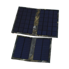 Outdoor Camping Hiking Travel Charger Solar Battery Pack Power Bank 6W Foldable Solar Cell USB Charger