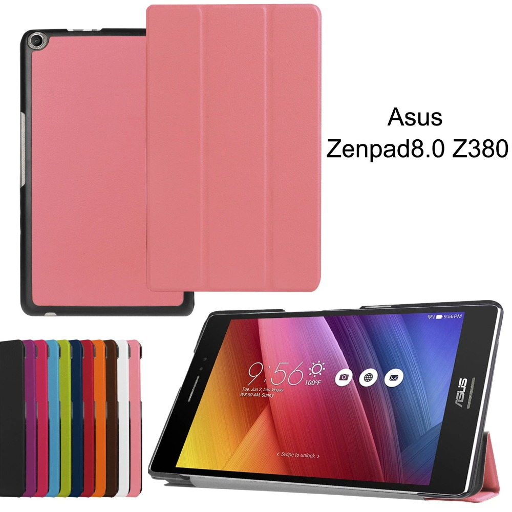 Flip Cover Case For ASUS Zenpad 8.0 Z380 Z380KL Z380C Z380M Z380CX Tablet ,Magnet PU Leather Case Smart Cover Protective shell resale me572 flip leather case for asus memo pad 7 me572c me572cl magnet cover case screen protectors