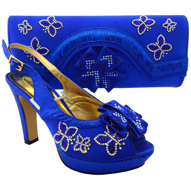 Latest Royal Blue Shoes and Bag Sets for Women Ladies Matching Shoe and Bag  African Women b35b74c532e1