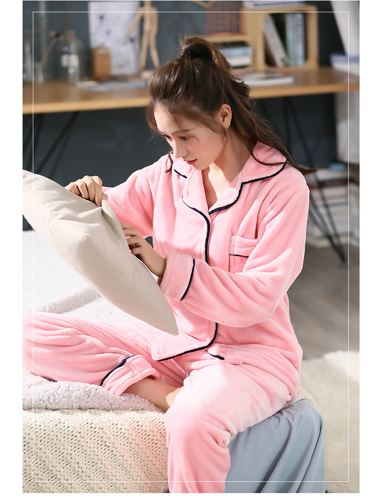 Plus Size 3XL 4XL 5XL Pajamas for women 2019 Winter Thicken Flannel pyjamas Long-sleeve lovely Sleepwear Coral Fleece Nightgowns 215