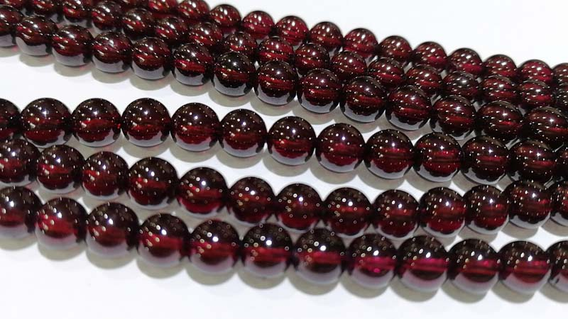 цены loose beads red garnet AAAAAA round 6mm 15