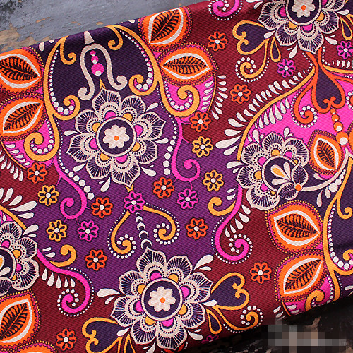 150cm x 100cm floral print canvas cotton ethnic sewing fabric patchwork tela india cojin tecidos africano
