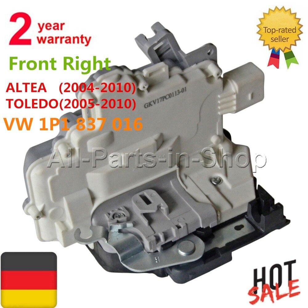 Avant Droit Porte Loquet de Verrouillage Actionneur Pour Seat Altea Toledo 3 Leon Altea XL 5P1 5P2 1P1 5P5 5P8, pour VW EOS 1F7 1F8 1P1837016