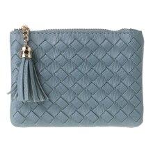 2019 New Women Men Leather Mini Coin Change Purse Wallet Tassel Zipper Small Soft Bag