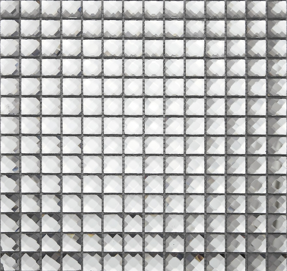 13 edges beveled Crystal Diamond Shiny Mirror Glass Mosaic Tiles for wall_showroom KTV Display cabinet DIY decorate,LSMR132001 vale music fest 2017 green card 7 dias