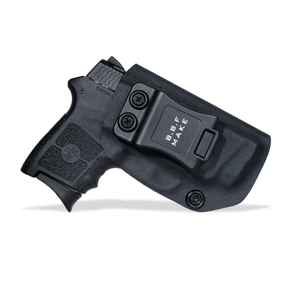 B.B.F Make IWB Tactical KYDEX Gun Holster Fits: S&W M&P Bodyguard 380 Laser BG380 Inside Concealed Carry Waist  Pistol Case