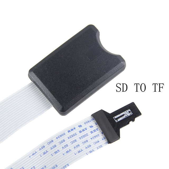 Micro SD TO SD Card Extension Cable Adapter Flexible Extender SD/SDHC/MMC/RS-MMC