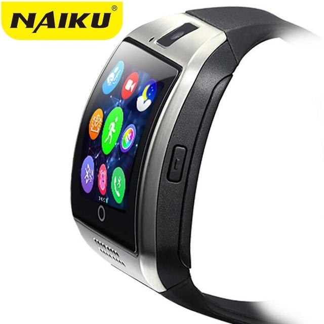 35fec0c1455 Q18 NAIKU Passometer relógio Inteligente com Tela Sensível Ao Toque câmera  Apoio TF cartão Bluetooth smartwatch