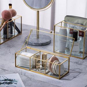 Image 4 - คลาสสิกยุโรปแก้วแต่งหน้าสีทองปกคลุมขอบห้องน้ำแต่งหน้า make up ผลิตภัณฑ์เครื่องสำอางค์