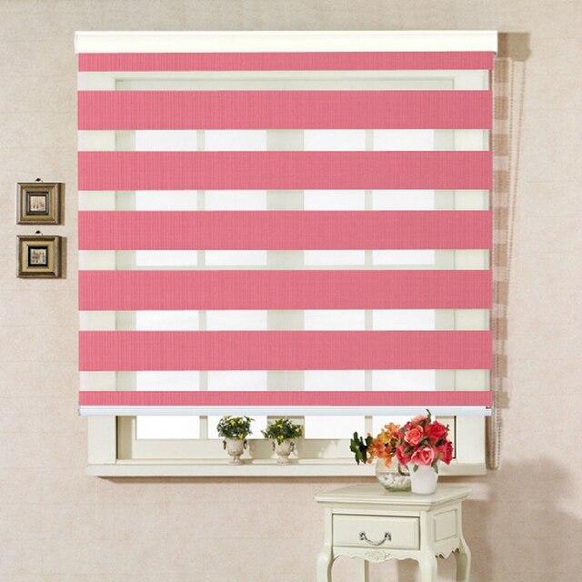 Cheap Korean soft gauze double blackout curtains shutter Zebra ...