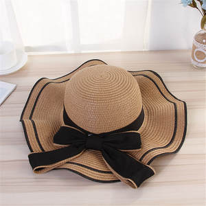 Straw-Hats Raffia Wide-Brim Summer Women Lady Flat with New for Leisure Gorras--1 Hot-Sale