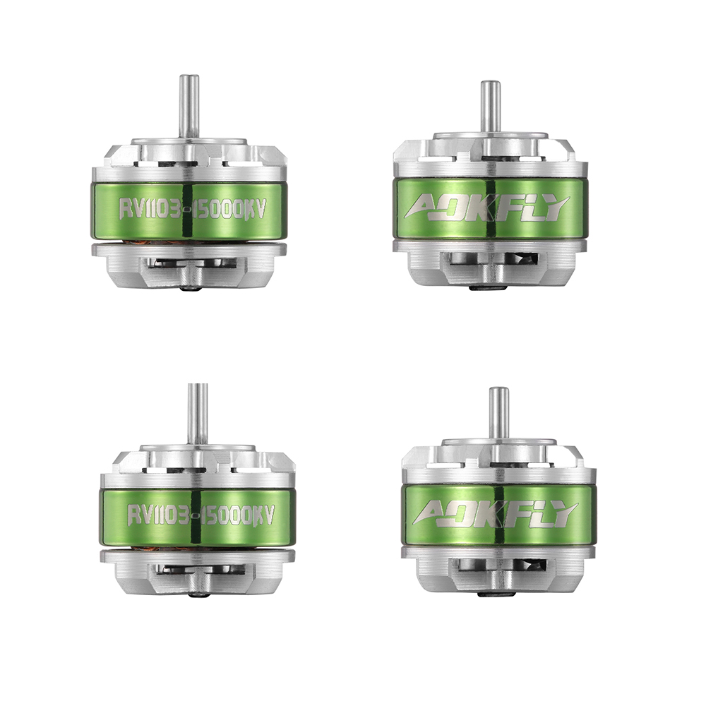цена на 1103 Brushless Motor AOKFLY rc Motor RV1103 8500KV/15000KV Drone Motor for QAV90 FPV Racing Quadcopter Multirotors 4pcs