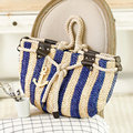 2016 Pillow Straw Bag Summer Beach Handbag Women Causal Shoulder Bag Large Woven Tote Shopping Bags Travel Burlap Pouches Li505