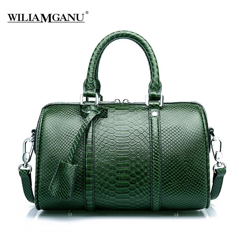 b53c37b6778 US $115.98  MANFUNI Crocodile Women's Bag Big Elegant Top Handle Bags  100%Genuine Leather Female Bag Luxury Brand Women Designer Handbags -in ...