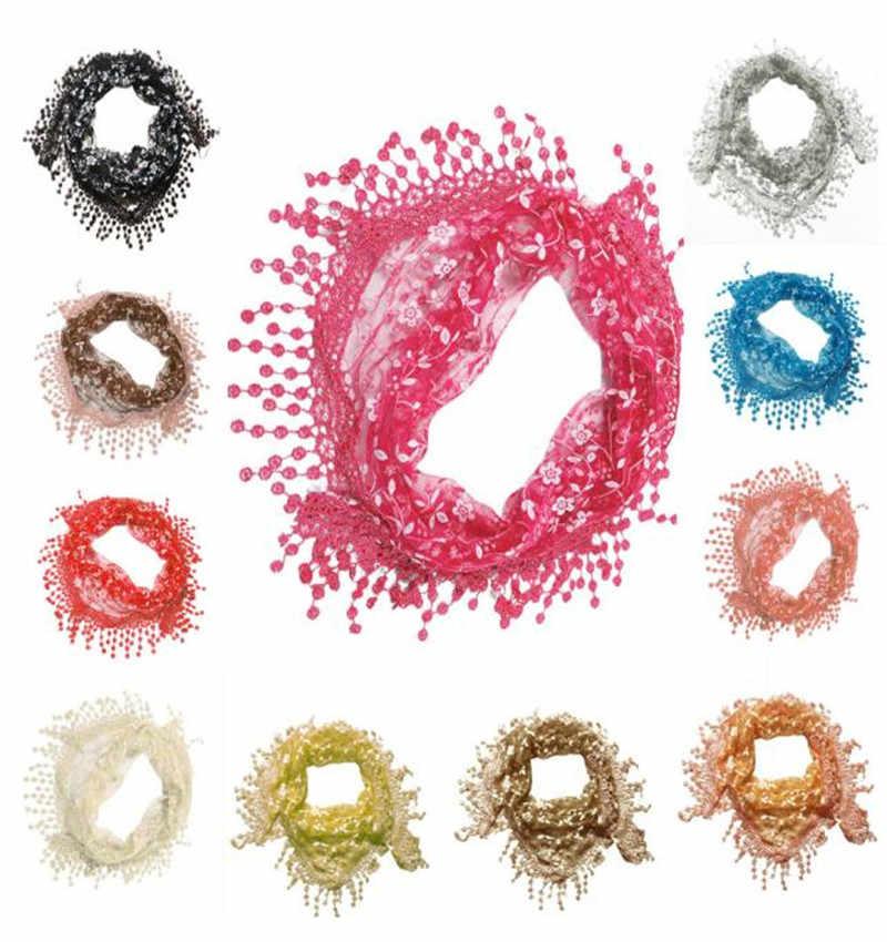 แฟชั่นลูกไม้ Sheer Burntout ลายดอกไม้ Mantilla ผ้าพันคอผ้าคลุมไหล่ 2018 ใหม่ designer แบรนด์ผู้หญิงหรูหราผ้าพันคอสำหรับผู้หญิง
