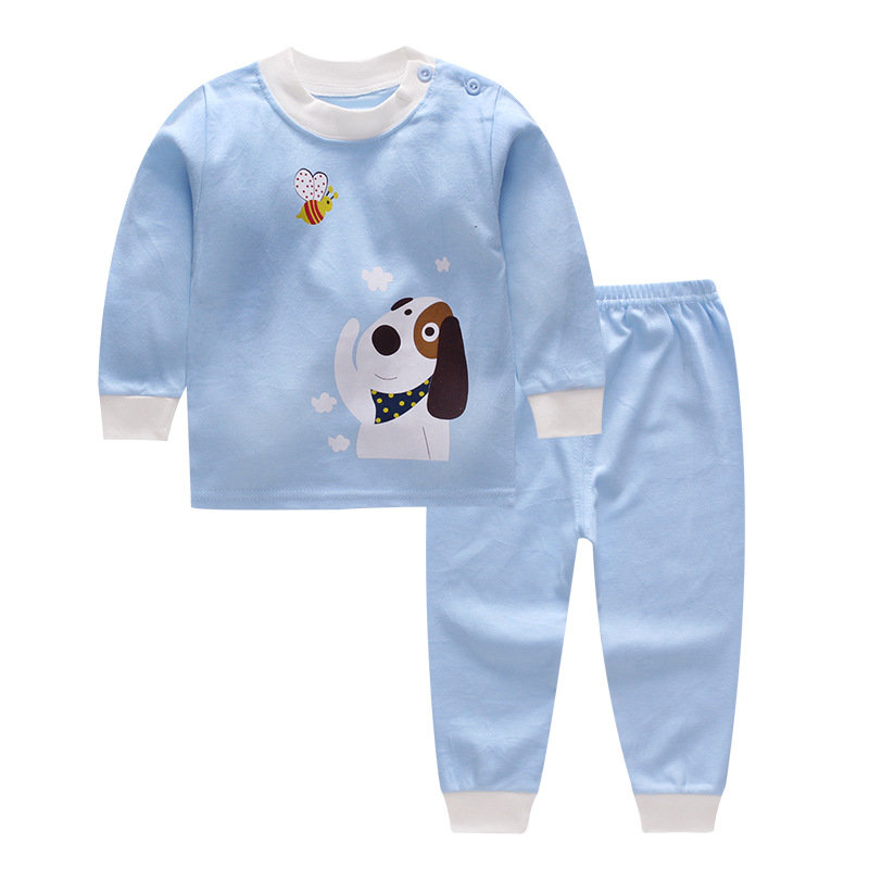2PCS Set Newborn Baby Girls Boys Clothes Set Tops T-Shirt Long Pants Casual Baby Boy Outfits Clothes baby boy clothes monkey cotton t shirt plaid outwear casual pants newborn boy clothes baby clothing set