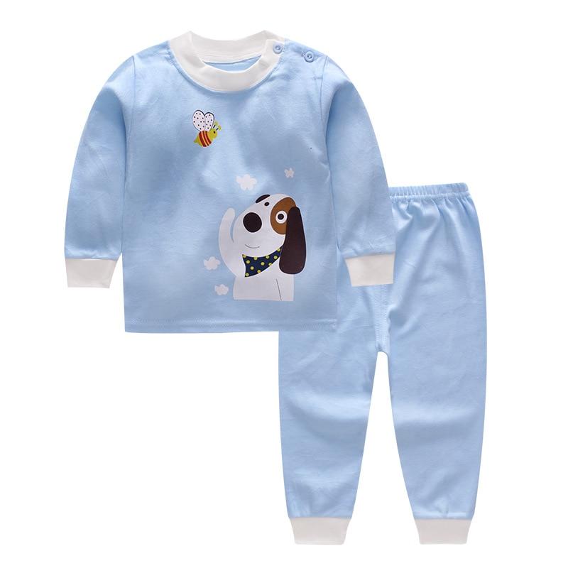 2PCS Set Newborn Baby Girls Boys Clothes Set Tops T-Shirt Long Pants Casual Baby Boy Outfits Clothes